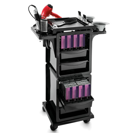 trolley with color tubes holder