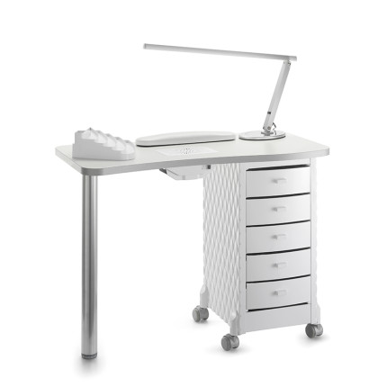 manicure table with cabinet