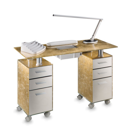manicure table glass with ventilator