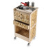 hair dresser trolley in wood Timber