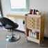 hair salon trolley in wood eco sustanable