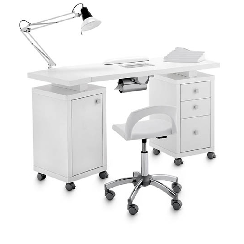 Manicure Table Square Double Vented 317 Lx For
