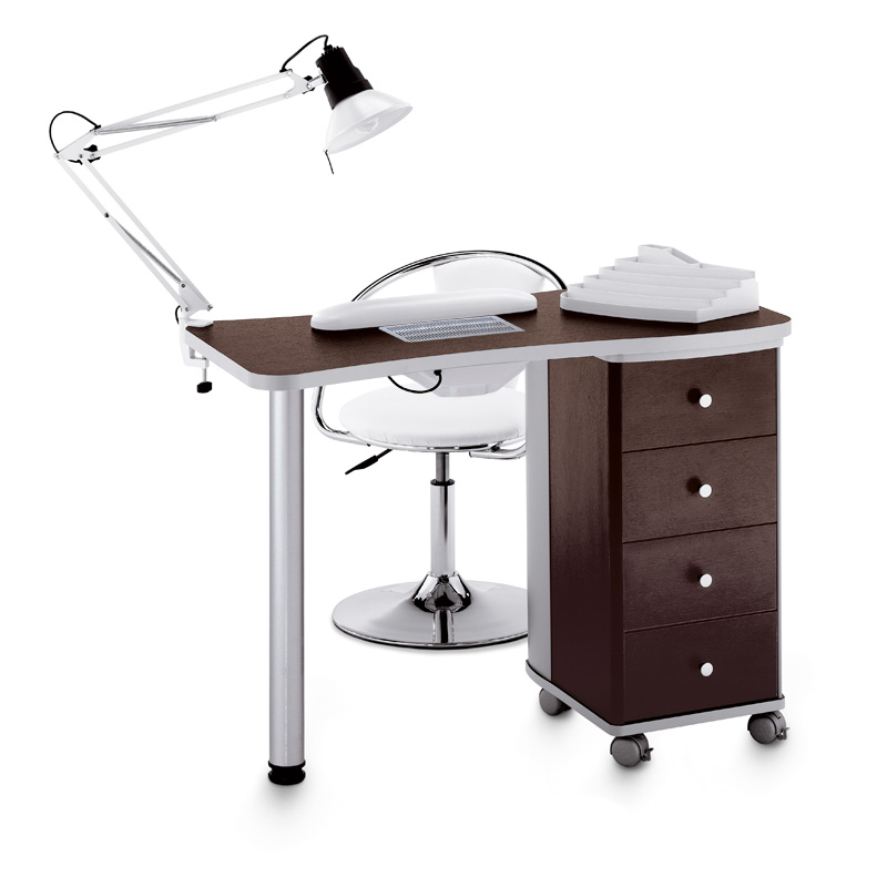Manicure tables table manicure vented 204 lx w for for Long manicure table